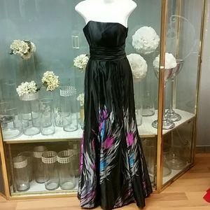 Dresses & Skirts - Dress black and colorful fushia turquise grey and